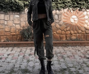 alternative, military, and school outfit image
