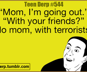 funny, mom, and terrorist image