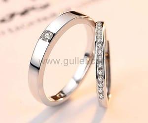 wedding, engagement rings, and wedding rings image
