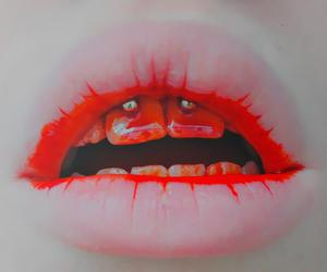blood, lips, and red image