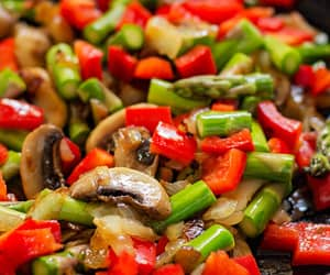asparagus, bell pepper, and onion image
