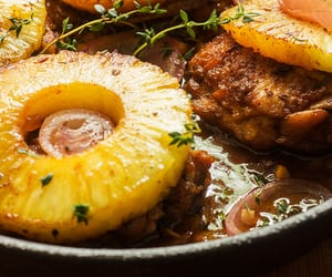 Chicken, ginger, and pineapple image