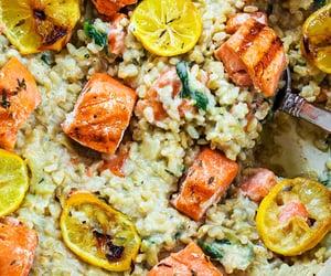 artichoke, lemon, and rice image