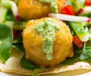 avocado, mint, and vegetarian taco image