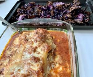 food, lasagna, and italian image