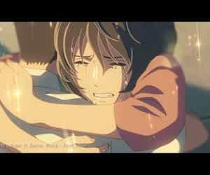 amv, makoto shinkai, and romantic songs image