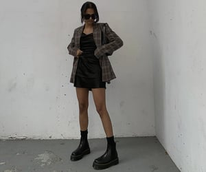 everyday look, black ankle boots, and brown blazer image