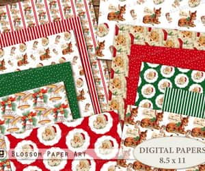 vintage christmas, christmas wrapping, and etsy image