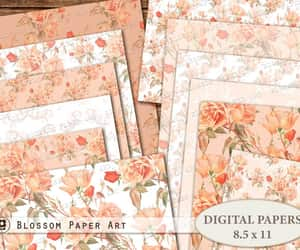 etsy, vintage papers, and scrapbook paper pack image