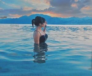 amazing, sunset, and girl image