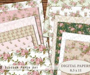 etsy, scrapbook paper, and printable pages image