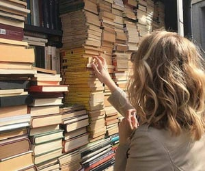books, pick, and girl image