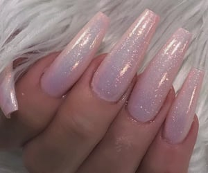 glitter, nails, and pastel image