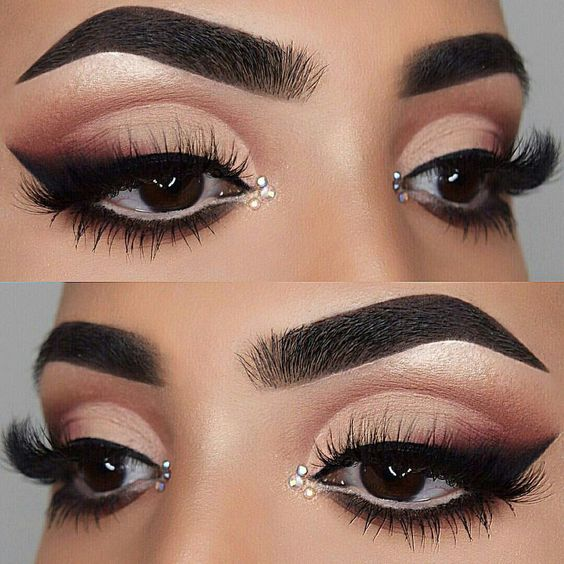 makeup, lashes, and eyebrows image