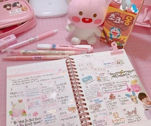 books, college, and pink image