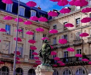 france, city, and umbrella image