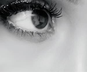 eyes, gif, and ponytail image