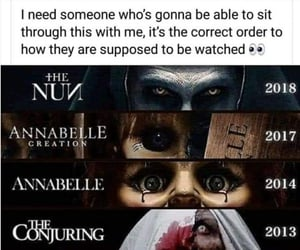 afraid, doll, and annabelle image