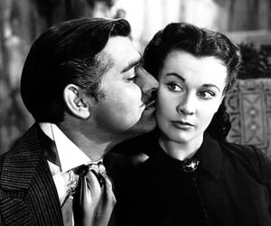 clark gable, vivien leigh, and Gone with the Wind image