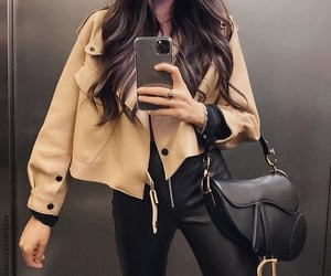 outfit, fashion, and jacket image