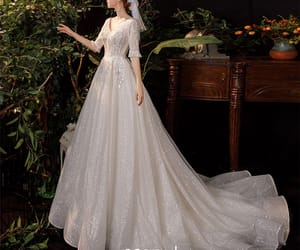 bridal, girl, and bridal gown image