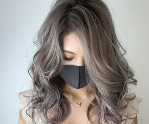 gray hair, hairstyle, and wavy image