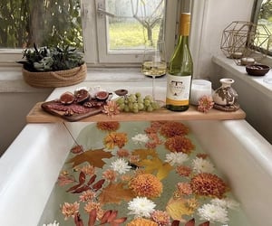bath, fall, and home image