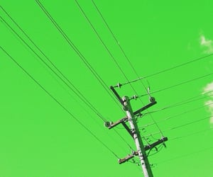 cables, green, and sky image