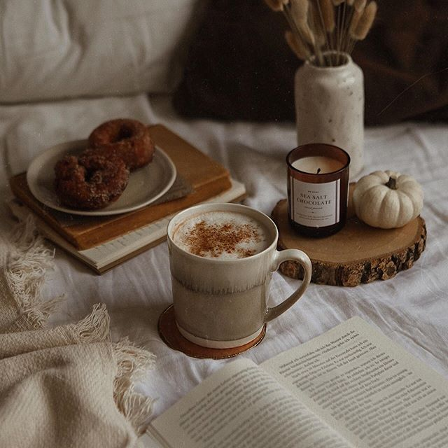 autumn, books, and candles image