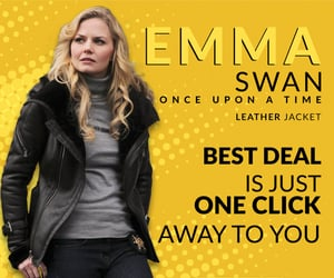fashion, leather jacket, and once upon a time image