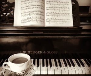 coffee, music, and notes image