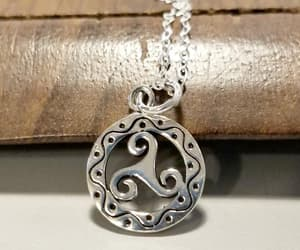 etsy, silver necklace, and simple necklace image