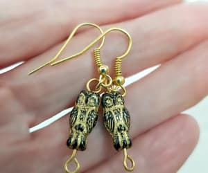 etsy, vintage style, and owl earrings image