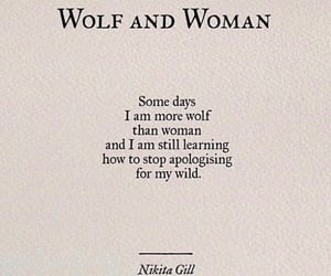 quotes, wolf, and woman image