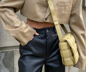 fashion, leather pants, and look image