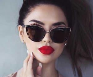 fashion, lips, and sunglasses image
