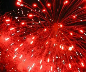 fire works, fireworks, and red image
