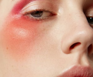 beauty, blush, and editorial image