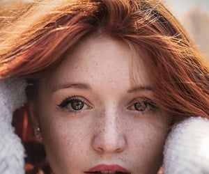 aesthetic, freckles, and hazel eyes image
