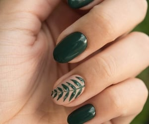 nails, beauty, and green image