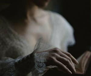 book, hands, and pale image