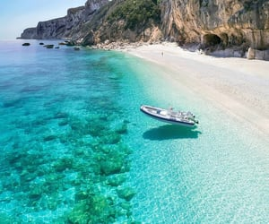 beach, italy, and blue image