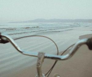 beach, bicycle, and bike image