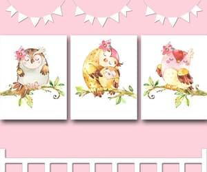 etsy, owl decor, and owl art image