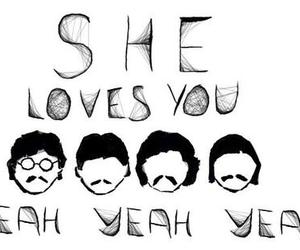 the beatles, beatles, and she loves you image