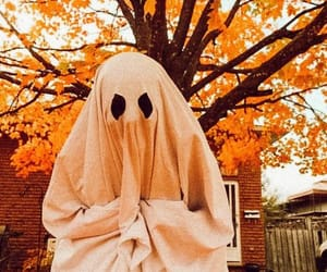 Halloween, autumn, and ghost image
