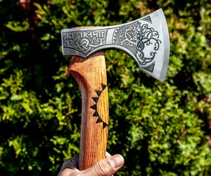 axe, crafting, and vikingaxe image