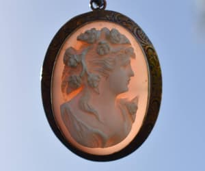 etsy, gift for her, and high relief cameo image