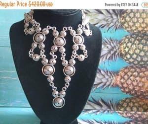 hollywood regency, statement necklace, and modernist necklace image