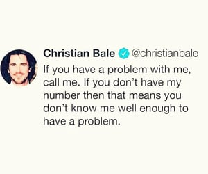actor, christian bale, and problem image
